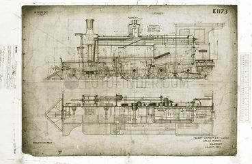 4-6-0 locomotive. 1900.