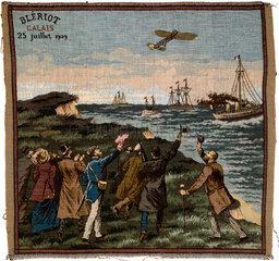 Bleriot leaving Calais  France  25 July 1909.