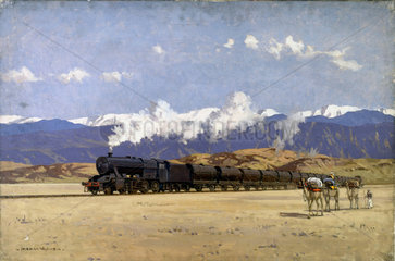 LMS locomotive in Persia taking supplies to Russia  1939-1945.