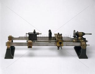 Henry Maudslay's original screw-cutting lathe  c 1800.