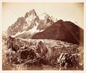 French Alps  c 1865.