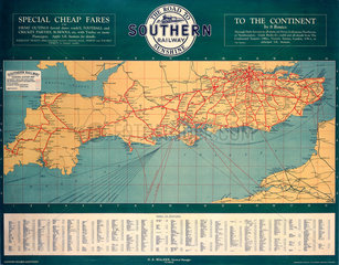 'The Road to Southern Railway Sunshine'  SR poster  1927.