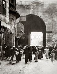 Street scene  Cairo  Egypt  7 March 1928.