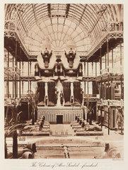 Abu Simbel colossi  the Crystal Palace  Sydenham London  1911.