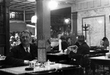 Cafe scene  c 1930s.