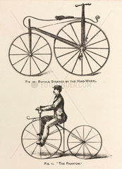 'Bicycle Steered by the Hind-Wheel' and the 'Phantom'  1869.