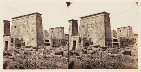 'Temples on the Island of Philae - Entrance'  1859.