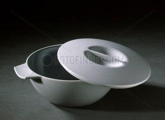 Grey 'Melaware' plastic butter dish  c 1960-1970.