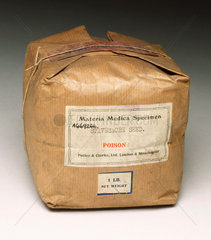 Packet of poisonous stavesacre seed  1901-1940.