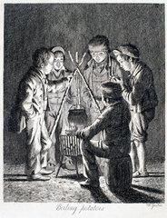 'Boiling potatoes'  1833.
