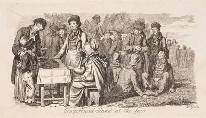 'Gingerbread stand at the fair'  1833.
