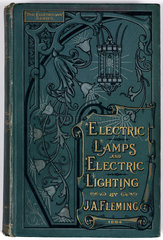 Cover of 'Electric lamps and electric lighting'  1894.