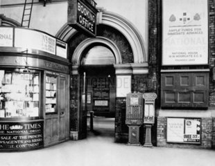 Entrance to Booking Office at Victoria stat