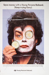 Gary Glitter advertising the Young Persons Railcard  c 1988.