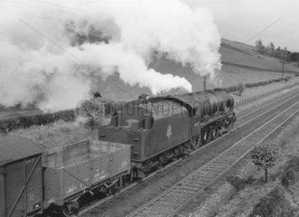 British Railways steam locomotive 'Argyll & Sutherland Highlander  mid 1950s.