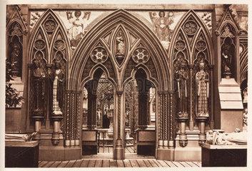 Medieval interior  Crystal Palace  Sydenham  London  1911.