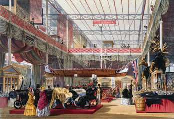 Canadian stand at the Great Exhibition  Crystal Palace  London  1851.