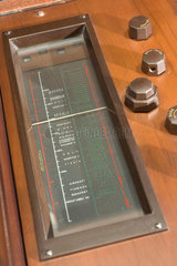 Detail of a Marconiphone 701 Dual Standard television receiver  1936.