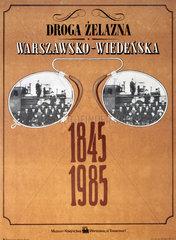 Polish railway museum exhibition poster  1985.