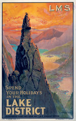 'Spend your Holidays in the Lake District'  LMS poster  1923-1947.