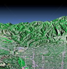 Pasadena  California  in 3-D  c 2000.