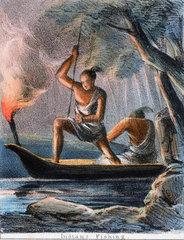 'Indians Fishing'  c 1845.