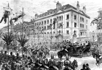 Royal visit to the London Hospital  1876.