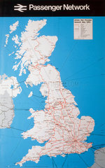 'Passenger Network'  BR(CAS) poster  1983.