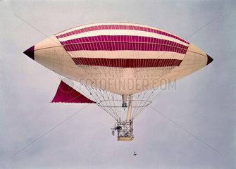 The Tissandier airship 'La France'  1883.