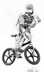 Tim March  early star of British BMX  May 1983.