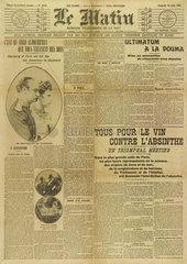 Anti-absinthe rally  June 1907.