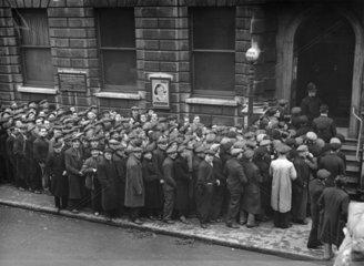 Unemployed men  Stepney  December 1938.