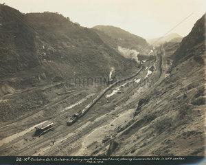 Construction of the Panama Canal  Panama  1913.