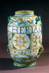 Pharmacy jar  Italian  1641.