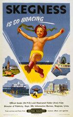 'Skegness is so Bracing'  BR (ER) poster  1959.