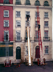 Fire escapes in use  c 1836.