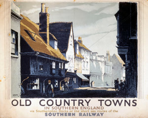 'Old Country Towns in Southern England'  SR poster  1938.