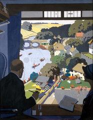 'Knaresborough'  LNER poster  1923-1947.