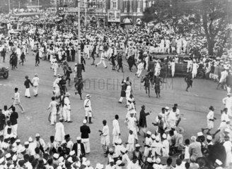 Congress volunteers protest  Bombay  11 Jul