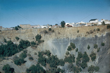Asbestos mine  Quebec  Canada  1955-1960.
