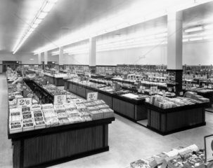 Woolworth department store interior  c 1950.
