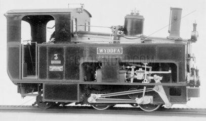 Print Snowdon rack Locomotive  1895.