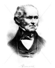 Sir Samuel Cunard  Canadian shipowner  c 1840.