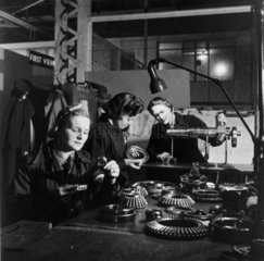 Women making a final check of aircraft