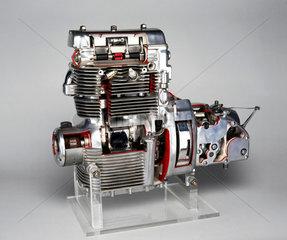 Sunbeam motorcycle engine  1948.