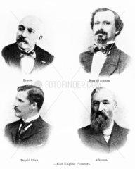 Gas engine pioneers  Lenoir  Clerk  Atkinson and de Rochas  late 19th century.