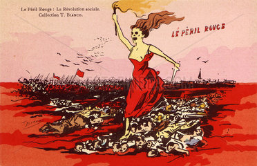 'Le Peril Rouge - La Revolution Sociale'  c 1910.