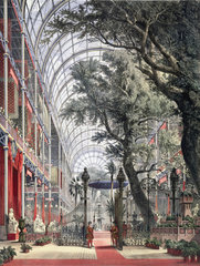 The north transept  waiting for the Queen to open the Great Exhibition  1851.