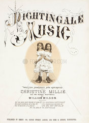 'Nightingale Music'; singers Millie and Christine McKay  c 1870s.