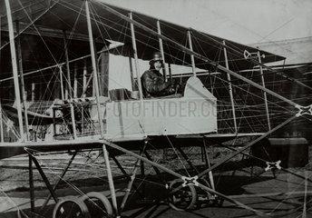 Forward elevator pusher biplane  c 1913.